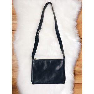 Skagen Anesa Crossbody Slim Leather Bag Dark Blue